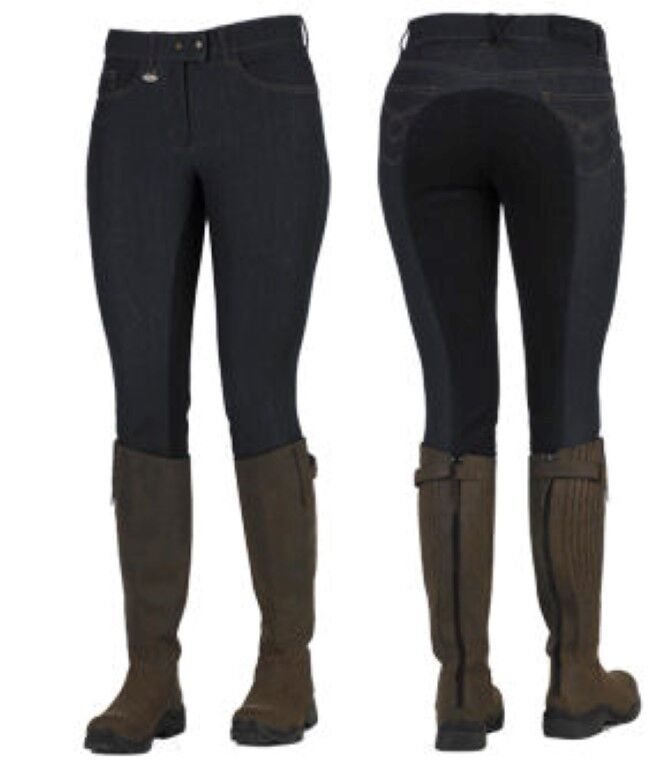 Toggi Laredo Ladies Stretchy Denim Breeches, jodhpurs, Full Seat,  6 sizes