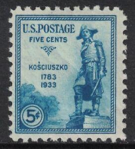 Scott-734-General-Kosciuszko-MNH-5c-1933-sin-Usar-Nuevo-Sello