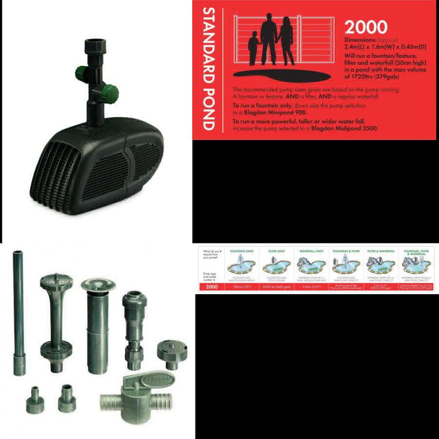 Blagdon minipond PUMP 2000 (stagno per eseguire una fontana lavorazione, filtro e.