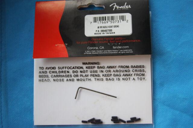 Genuine Fender Am SRS Strat Saddle Height Screws, 12 pack, MPN 0994927000