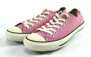 Low Sneakers Shoes Size 7 Pink White