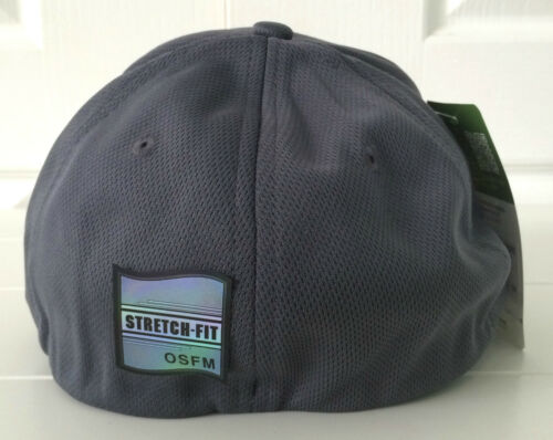 John Deere Gray Fabric Hat Cap w Cool Yellow Embroidered Details /& Stretch Fit