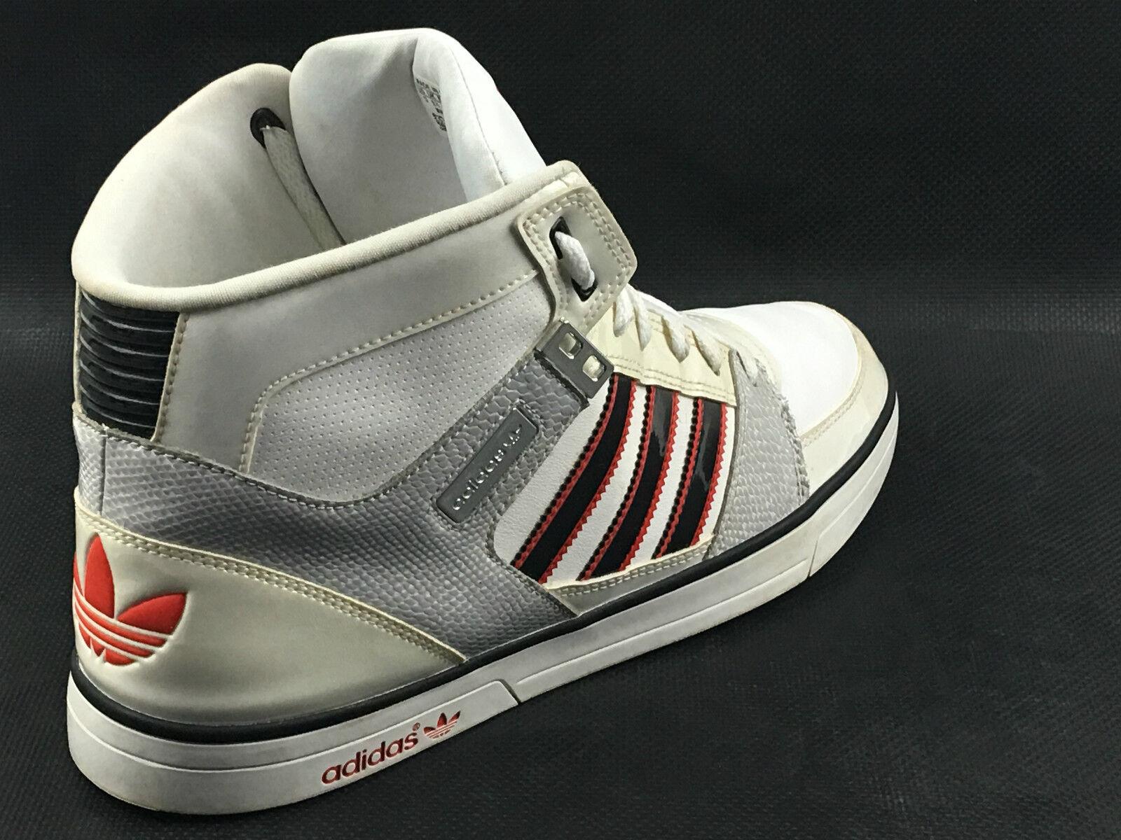 Adidas Hard Court HI II V21998  White /Gry /Blk.  Taglia 13 USA.