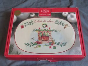 New-Lenox-Holiday-Celebrate-The-Season-Serving-Plate-Server-Tray-10-5-Christmas