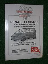 RENAULT ESPACE III IV DIESEL MPV WORKSHOP MANUAL dTi Dci TURBODIESEL 1998-2005