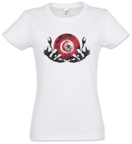 TUNISIA Football Magic Ball T-Shirt Femmes Drapeau Tunisien Football TUNISIE
