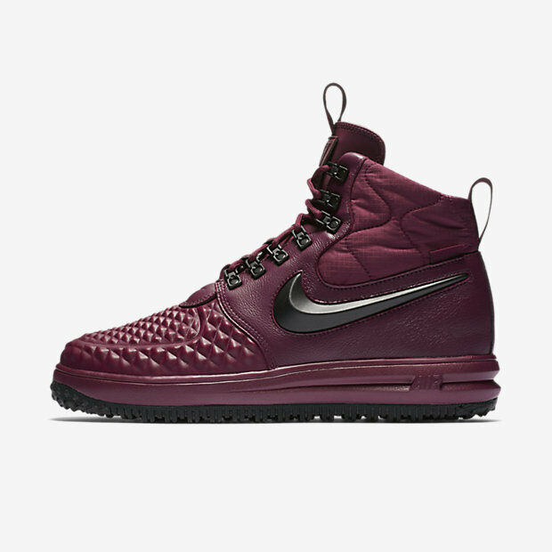 New Nike Men's Lunar Force 1 Duckboot '17 (916682-601)  Bordeaux Gum Light Brown