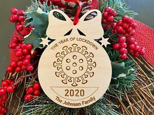Christmas Ornament 2020 Virus Quarantine Gift Christmas Ornament Lockdown