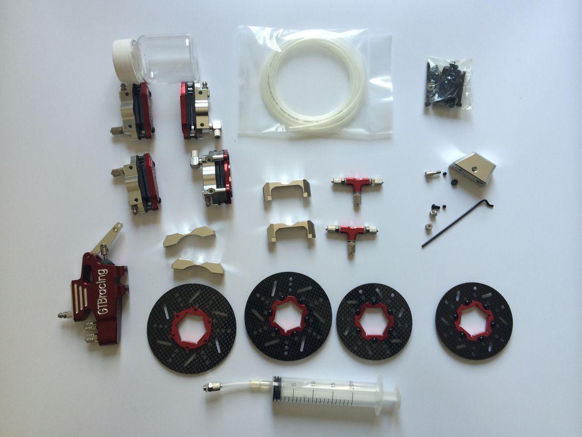 Gtb 4 - rad hydraulische bremsen ohne servo - arm - und hpi baja 5b 5