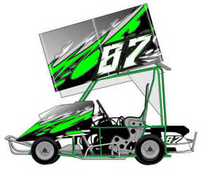 Details about RACING KART QRC OUTLAW DIRT WRAP NUMBERS