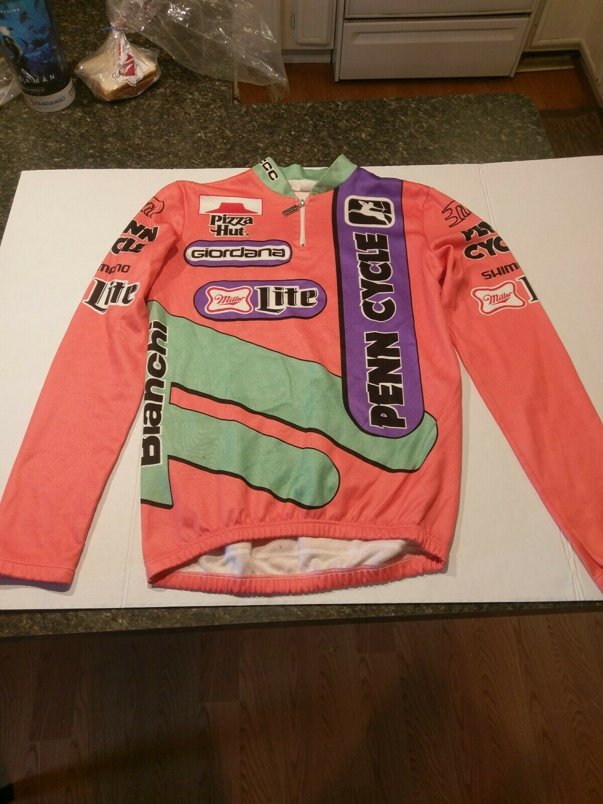1980s Bike  Cycling Jersey Medium Long sleeve  free delivery