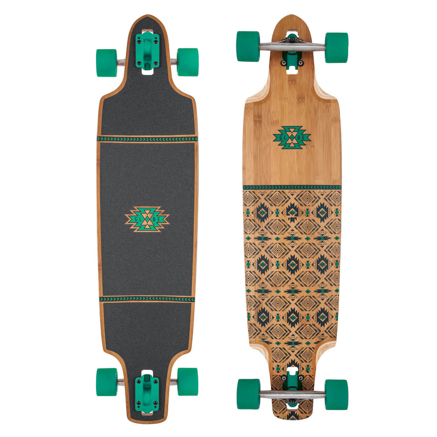Globe Longboard Spearpoint 40 Bamboo Green All-Round Drop-Through Board