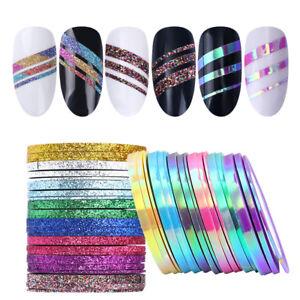 Matte-Glitter-Nail-Striping-Tape-Line-Colorful-Nail-Art-Adhesive-Sticker