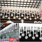 Hot 2pcs White Snowflake Ice Strip Festival Ornaments Christmas Tree Xmas Decor