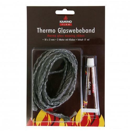 Dichtung Ofentür Kamintür Dichtschnur Thermo-Glasgewebeband 10 x 3mm,