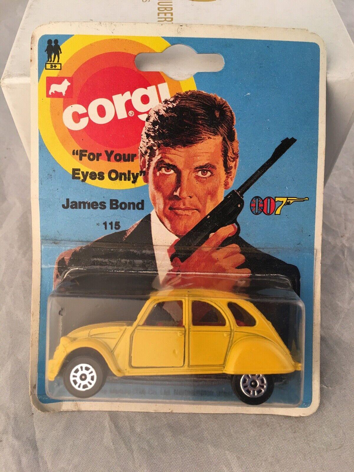 Vintage Corgi James Bond 1976 Citroen 2CV6-excelente Tarjeta no Etiqueta de Precio