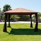 10' x 12' Regency Patio Canopy Gazebo Mosquito Net Netting Aluminum Steel