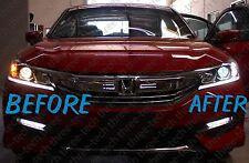 For 16 Honda Accord Switchback LED Bulbs Dual Color Turn Signal Lights Resistors