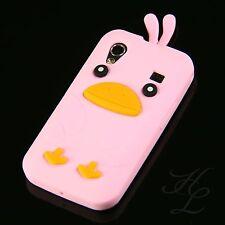 Samsung Galaxy ACE S5830i S5839i Silikon Case Schutz Hülle Chicken Cover Rosa 3D