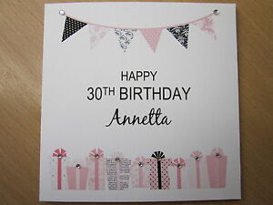 Image Is Loading Personalised Handmade Female Birthday Card 40th 50th 60th