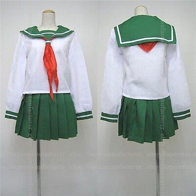 Inuyasha Higurashi Kagome Summer Uniforms Cosplay Costume Custom Made Any Size