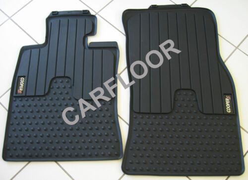 Original Mini R59 Roadster Gummifußmatten Allwetter-Fußmatten mit Cooper S Logo