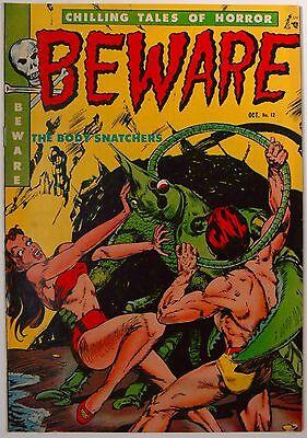 Beware, Chilling Tales of Horror#12, October 1952, High Grade! Very Fine minus!
