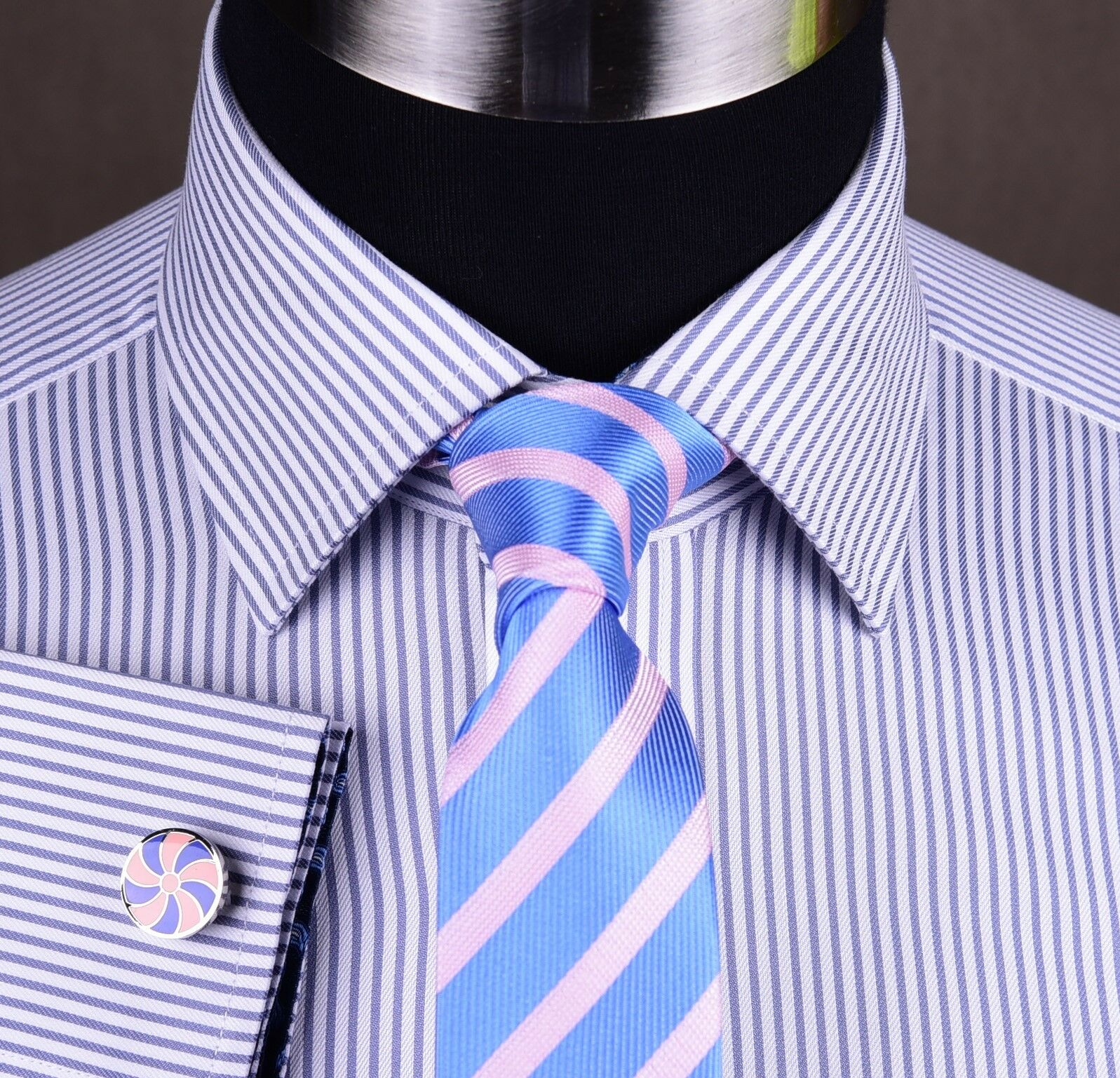lila Stripe Twill Formal Geschäft Dress Shirt Luxury Designer Fashion Boss Top