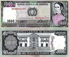 BOLIVIA 1000 Bolivianos Banknote World Paper Money UNC Currency BILL Pick p-167