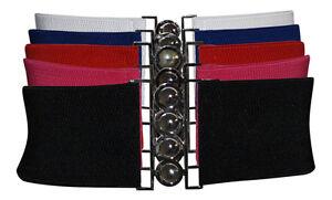 Ladies FASHION & Vintage cintura elasticizzata stretch Cinch Taglia Unica 5 Colori Nuovi