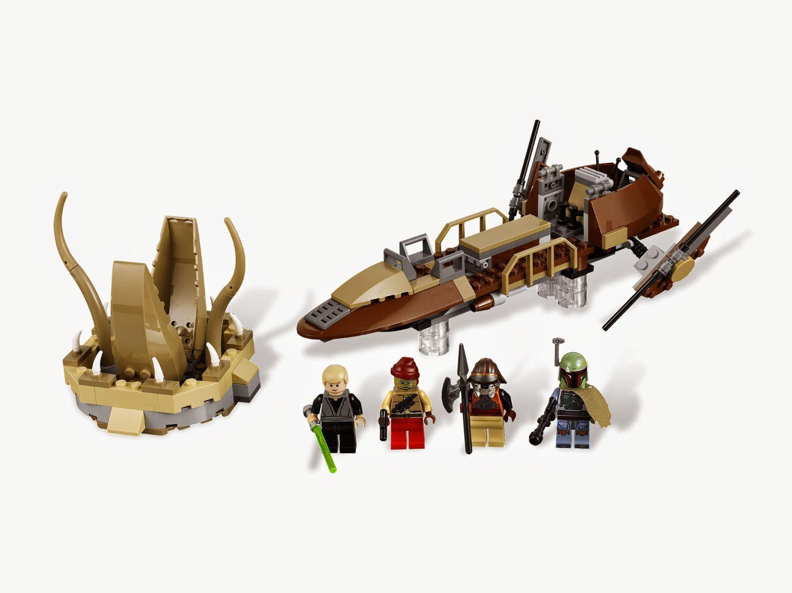 Lego 9496 Star Wars Desert Skiff complet Notice boite de 2012