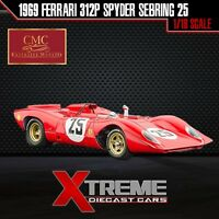 Cmc M-095 1:18 1969 Ferrari 312p Spyder Sebring 25 Andretti Amon Supercar Race