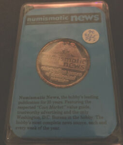 1987-Numismatic-News-35th-Anniversary-1-troy-ounce-999-Silver-Art-Round