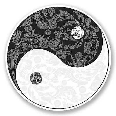 2 X 10 Cm Yin Yang Vinilo calcomanía de pegatinas Laptop Yoga Meditación Ying Karate # 9778