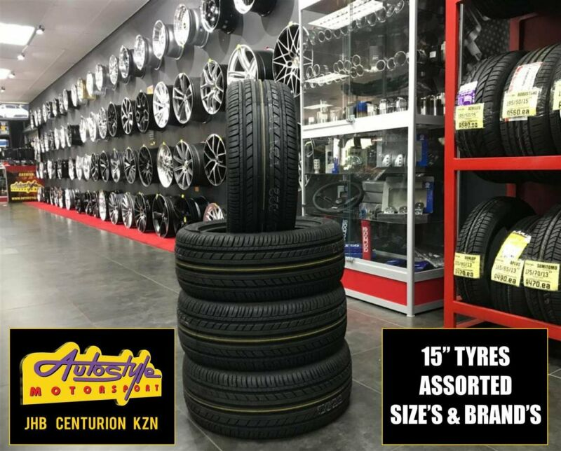 Tyres brand new 15 inch 195 50 15 from R640  Other sizes available. We beat any price. Open 7 days.