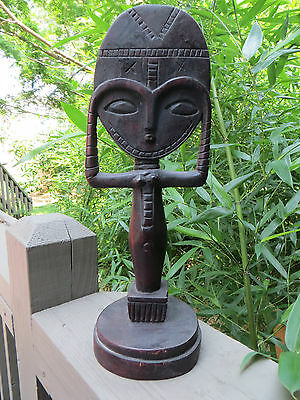 African Sculpture CARVING  Folk Art  Asante akua'ba Fertility/ Maternity Doll A
