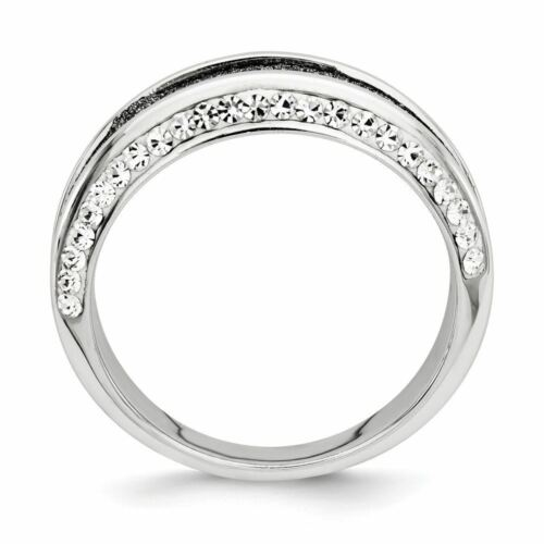 Details about  /Sterling Silver Crystal Blue Laser Glitter Texture Ring MSRP $48