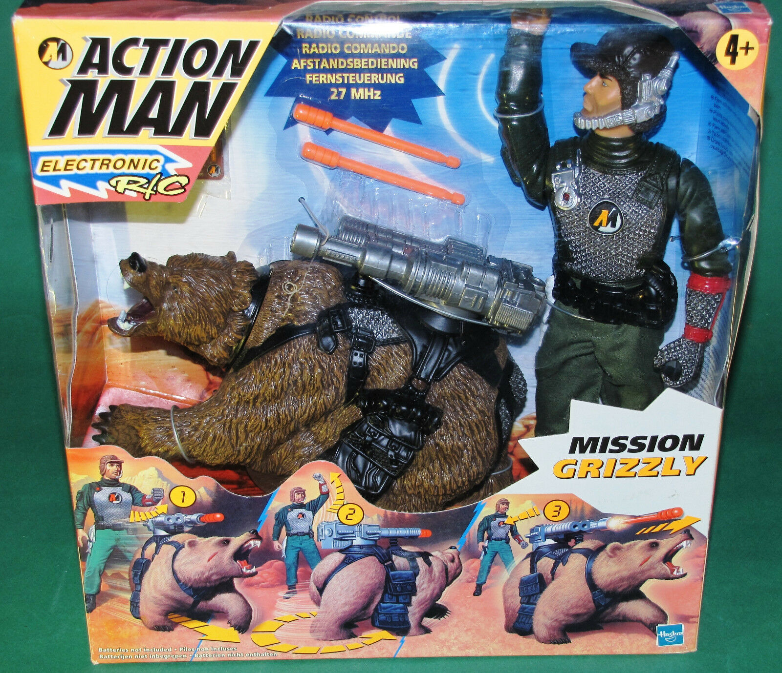 Very Rare Original 12  Inch  Action Man Mission Grizzly  MIB Hasbro 1999