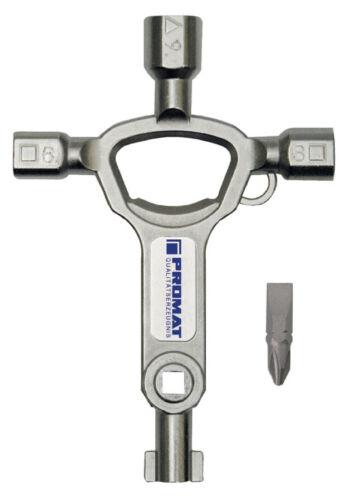 PROMAT Schaltschrankschlüssel Universalschlüssel 3-kant 4-kant Elektro 829772
