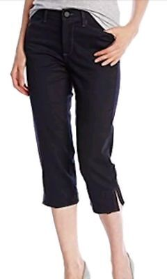 NYDJ Womens Petite Size Ariel Crop Jeans with Embellished Pocket
