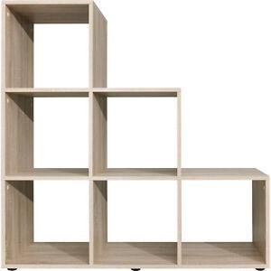 Image Is Loading 6 Cube Stair Shelf Unit Sonoma Oak