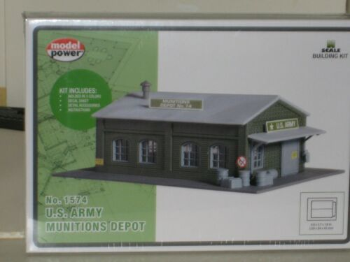 MODEL POWER N SCALE BUILDING KIT #1574 MUNITIONS DEPOT DETAILED **H Harvey**