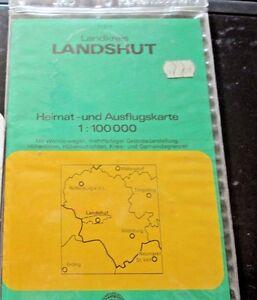 Landkries-LANDSHUT-Heimat-und-Ausfluskarte-Germany-1-100000-paper-folding-map