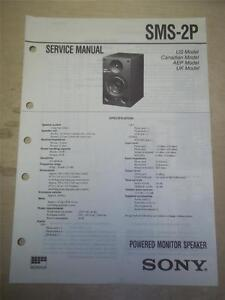 sony service manual sms 2p powered monitor speaker original repair rh ebay com Sony Audio Baby Monitor Sony LCD Monitor