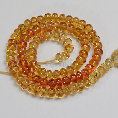 """SALMON PINK SAPPHIRE faceted rondelle beads AAA 2.5-4mm 16.5/"""" strand"""