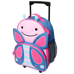 d45d9a35fa2a Details about New Zoo Kids Rolling Luggage, Blossom Butterfly, Pink,  Small/Large/X-Small, 4 oz