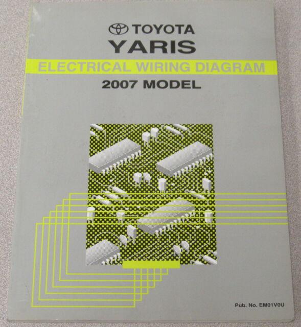 2007 Toyota Yaris Electrical Wiring Diagram Service Manual