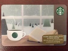 HTF Starbucks Winter Reading Spot Gift Card Never Swiped NO $ VALUE