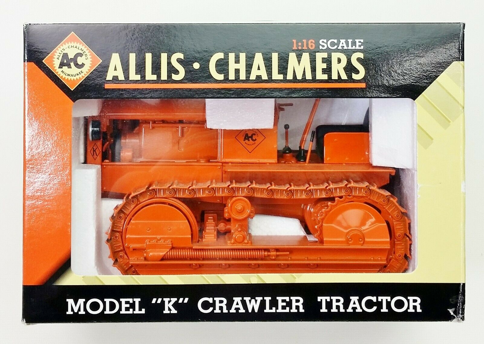 Allis Chalmers Milwaukee Model K Crawler Tractor 1 16 Acale SpecCast NIB