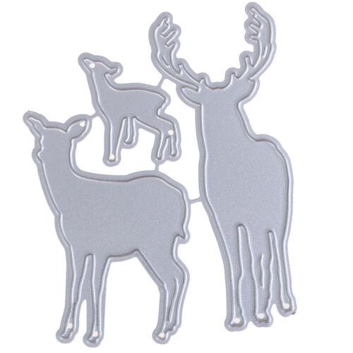 Metal Christmas Deer Cutting Dies New for Scrapbooking DIY Craft Card Making JA